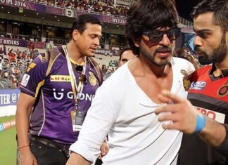 Shah Rukh Khan Trying To Calm Viral Photos