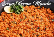 Soya Keema Masala Recipe In Hindi