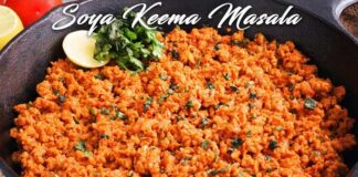 Soya Keema Masala Recipe In Hindi