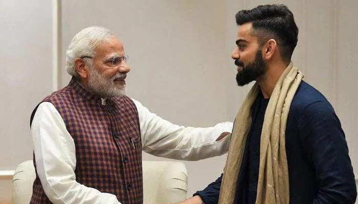 Virat Kohli With PM Modi
