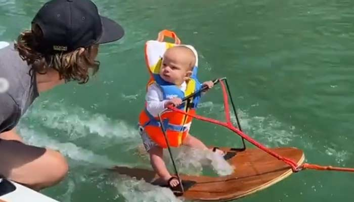 Youngest Person Ever To Go Water Skiing