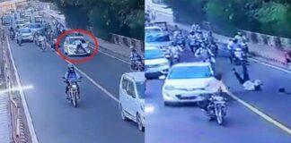 Car Dragged Delhi Traffic Police