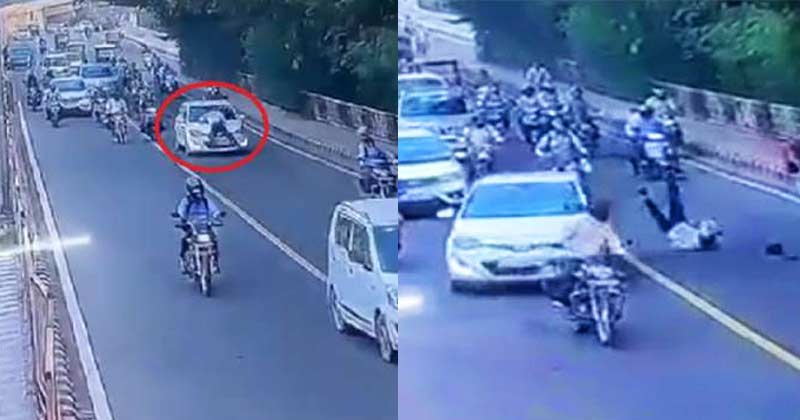 Car Dragged Delhi Traffic Police
