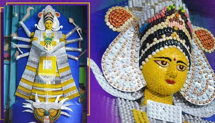 Doddess Durga Idol With Expired Tablet