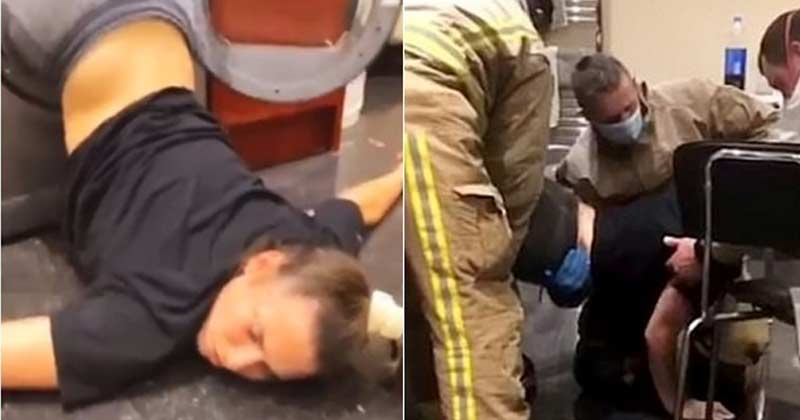 Drunk Girl Stuck Inside Washing Machine