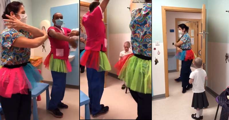 Hospital Staff Members Ballet Dance For Cancer Patient