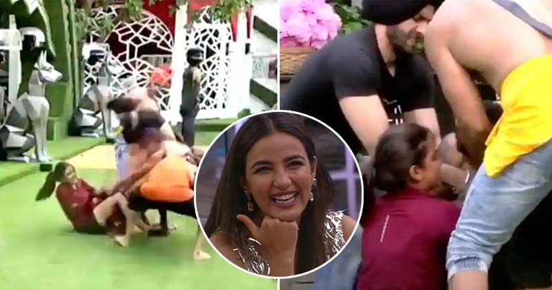 Jasmin Bhasin Fight With 3 Mens For Task
