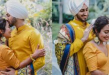 Neha Kakkar And Rohanpreet Singh Haldi Ceremony Pictures