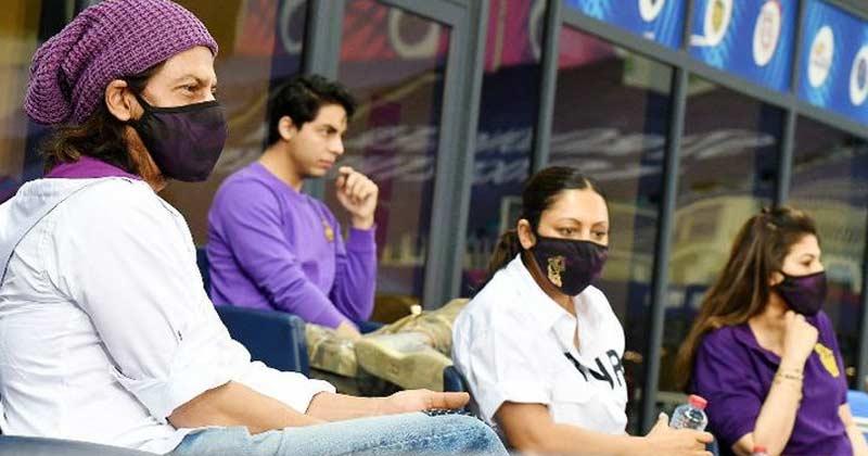 Shah Rukh Khan Watching Match In Dubai