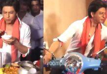 Shah Rukh Khan Eating Golgappa Viral Video