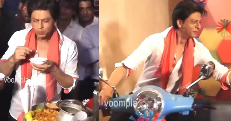 Shah Rukh Khan Eating Golgappa Viral Video