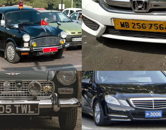 Vehicle Number Plate Colors In India