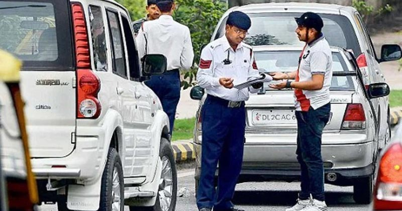High Security Registration Plates Challan In Delhi NCR