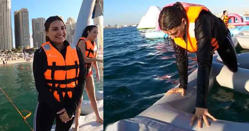 Himanshi Khurana Having Fun At Water Park Video Goes Viral