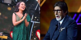 Neha Kakkar Imitates Amitabh Bachchan On Indian Idol Set