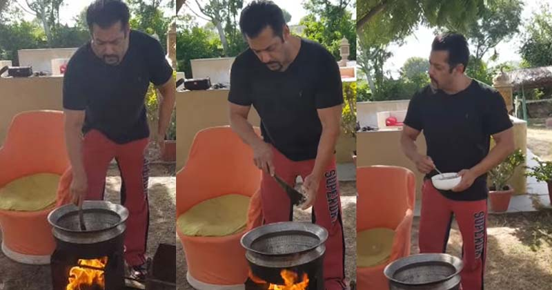 Salman Khan Making Food