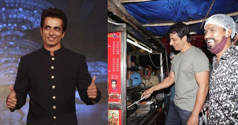 Sonu Sood Eats Food At Hyderabad