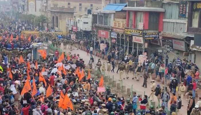 Protest In Chandni Chowk Hanuman Mandir
