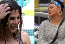 Rakhi Sawant took bath in garden