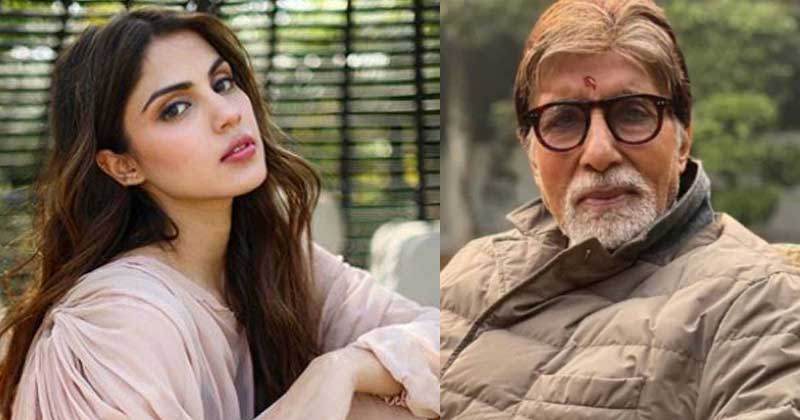 Rhea Chakraborty With Amitabh Bachchan