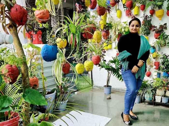 Sakshi Bhardwaj Grown Exotic Plants