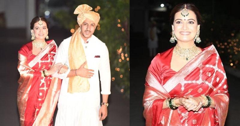 Dia Mirza Red Banarasi Saree look Viral