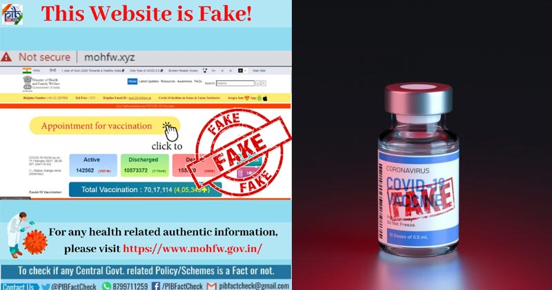 Fake Websites Offering Covid Vaccine