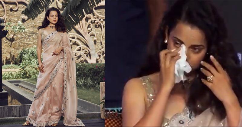 Kangana Ranaut Cries During Thalaivi Trailer Launch