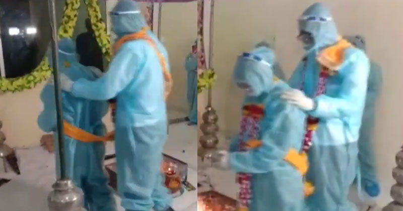 Madhya Pradesh Couple Gets Married In PPE Kits