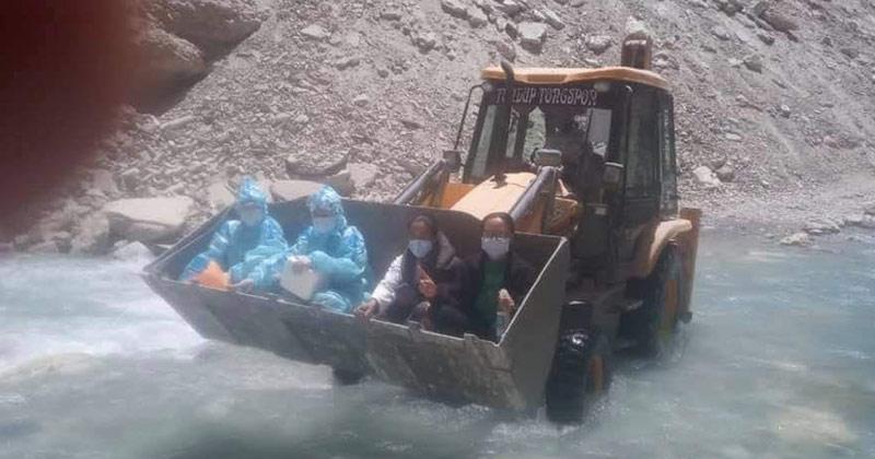 covid warriors at ladakh