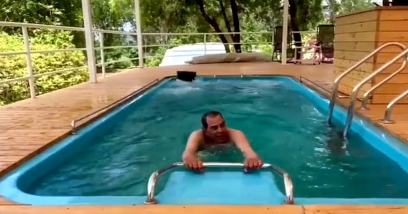 Dharmendra deol Promoting Yoga Shares Video