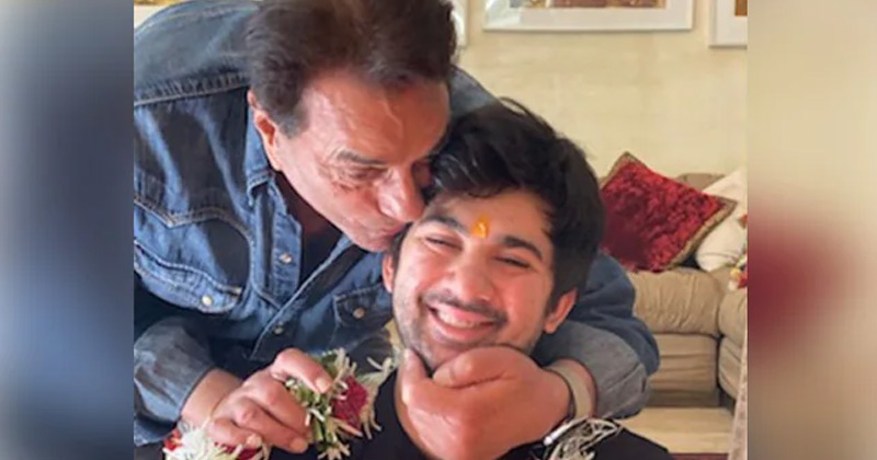 Dharmendra shares grandson Karan Deol's video