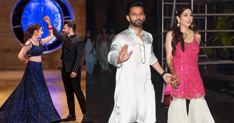Rahul vaidya Disha Parmar Sangeet Party