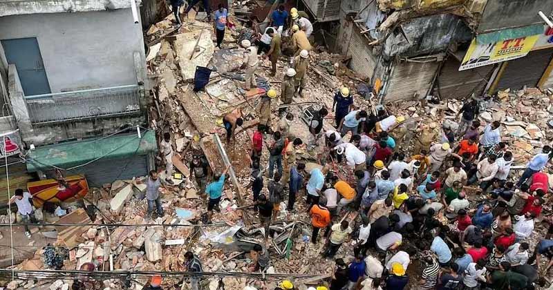 Delhi Sabzi Mandi Area Five Storey Building Collapse