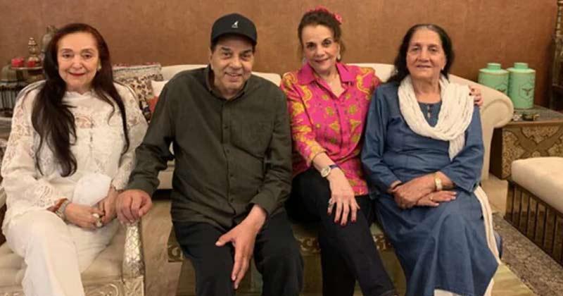 Mumtaz visits Dharmendra at his Juhu home