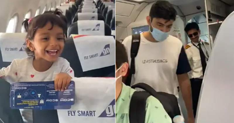Little Girl Gets Excited To See Pilot Father On Her Flight